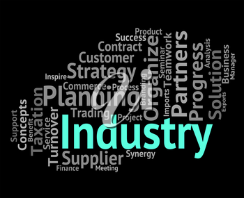 Industry Word Representing Industries Wordclouds And Industrial