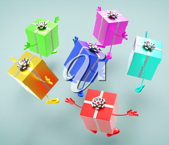 Giftboxes Celebration Showing Celebrate Package And Celebrations