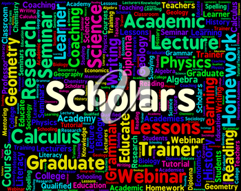 Scholars Word Meaning Learned Person And Academics