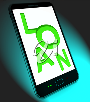Loan On Mobile Meaning Lending Or Providing Advance
