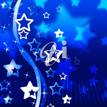 Blue Background Indicating Starred Swirl And Swirling