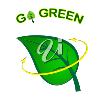 Go Green Showing Earth Friendly And Recyclable