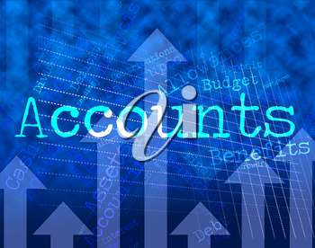 Accounts Words Showing Balancing The Books And Paying Taxes