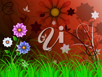 Flowers Background Meaning Petals Shoots And Growing