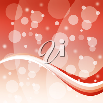 Bubbles And Wave Background Meaning Bright Circles And Curve