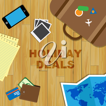 Holiday Deals Representing Vacation Promo Or Offer