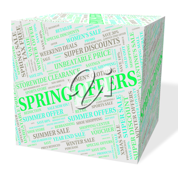 Spring Offers Meaning Savings Bargain And Discount