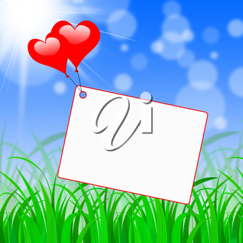 Tag Heart Showing Valentine's Day And Romantic