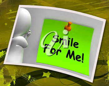 Smile For Me Photo Meaning Be Happy Cheerful