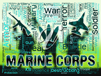 Marine Corps Representing Military Action And Warfare