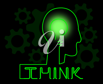Think Brain Represents Idea Reflection And Consider