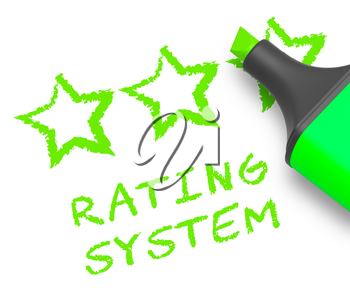 Rating System Stars Means Performance Report 3d Illustration