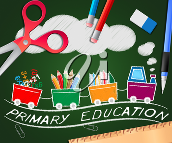 Primary Education Picture Meaning Child Studying 3d Illustration