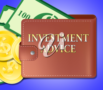Investment Advice Wallet Meaning Invested Information 3d Illustration