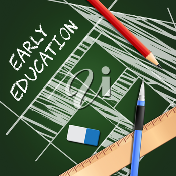 Early Education Equipment Showing Kids School 3d Illustration
