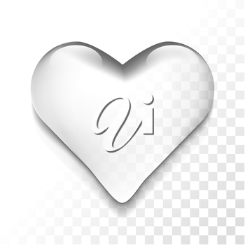 Transparent isolated heart  symbol icon, vector illustration