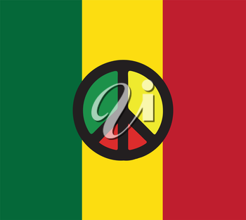 Reggae Culture Concept Design. AI 10 Supported.