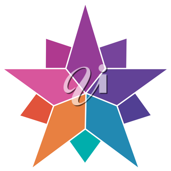 Colorful Star Logo. EPS  Supported.