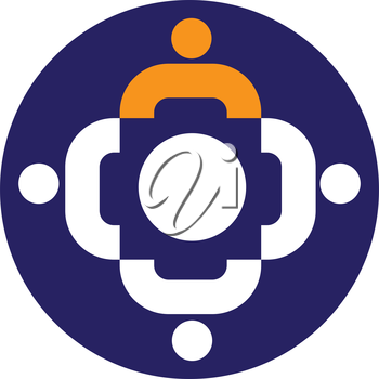 Teamwork Icon With. AI 8 Supported.