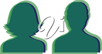 Avatar Icon Design for Man. AI 10 supported.