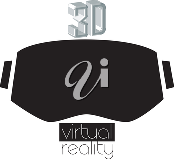 3D Virtual Reality Logo and Eyewear Concept.