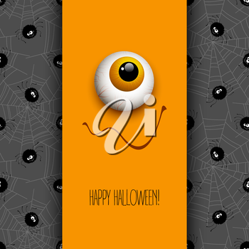 Funny Halloween greeting card monster eyes. Vector illustration EPS 10