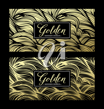 Luxury golden modern card. Vector illustration EPS10
