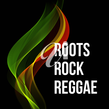Reggae color wave poster design. Vector illustration EPS 10