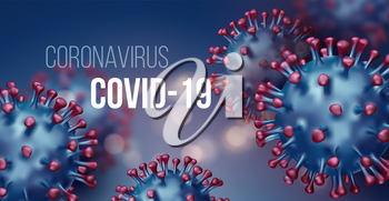 Coronavirus 2019-nCov novel coronavirus concept background. Realistic Vector illustration EPS10