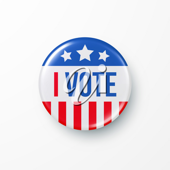 I Vote 2020 United States of America Presidential Election Button Design. Vector illustration EPS10