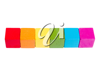 Cubes of rainbow colors. LGBT symbol. Isolate