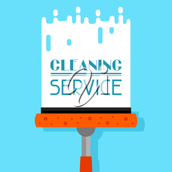 Housekeeping background with window cleaner. Image can be used on advertising booklets, banners, flayers, article, social media.
