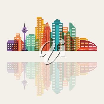 Cityscape abstract background with buildings.