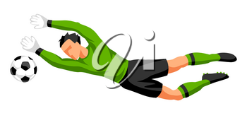 Soccer player with ball. Sports football illustration.