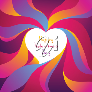 Happy Valentine Day greeting card. Colored heart shape. Love romantic background. weeding design.