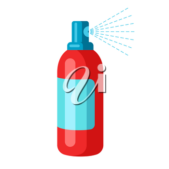 Illustration of protective medical antiseptic. Health care, treatment and safety item.