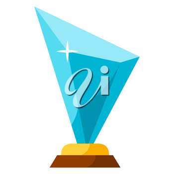 Illustration of prize. Award or trophy for sports or corporate competitions.