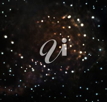 Beautiful abstract space background with stars and nebulas.