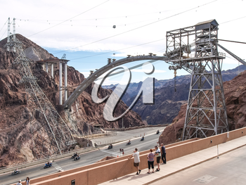 Nevada, USA - June 18, 2015: View of the Hoover Dam in Nevada, USA
