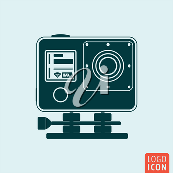 Action camera icon isolated. Camera for active sport symbol. Vector illustration