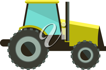 Flat vector illustration tractor icon. Tractor icon art white background. Tractor icon web. Tractor icon best. Tractor icon site. Tractor icon sign. Isolated tractor icon image.