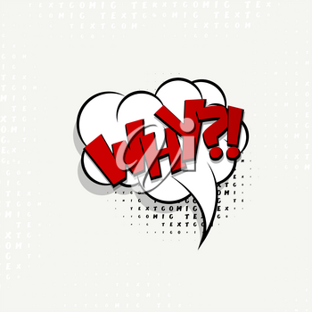 Lettering why, question. Comics book balloon.  Bubble icon speech phrase. Cartoon exclusive font label tag expression. Comic text sound effects. Sounds vector illustration.