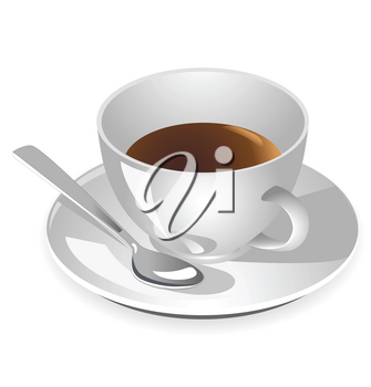 cup of coffee with a dish and spoon