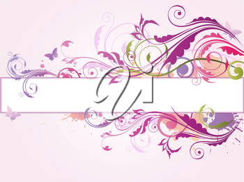 Colored vector background with floral ornament