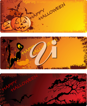 colored vector Halloween banners