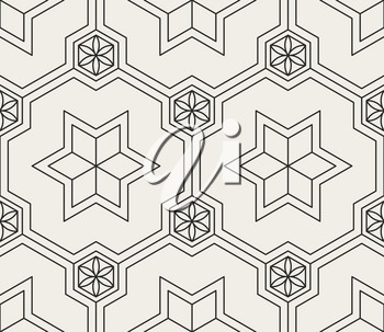 Traditional arabian geometrical seamless pattern.  Oriental ornamental background. Vector illustration.