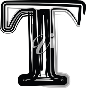 Freehand Typography Letter T