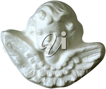 Royalty Free Photo of a Decorative Angel Face Wall Plaque