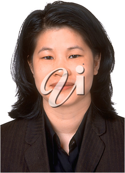 Royalty Free Photo of a Profile of an Asian Woman