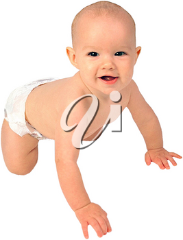 Royalty Free Photo of an Infant Child Crawling